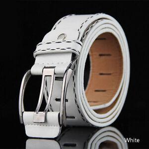 95-115cm Retro Men PU Belt Waistband Leather Waist Accessorie Business Belt Gift