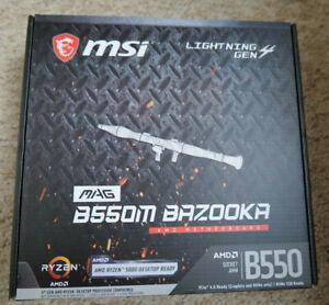 MSI MAG B550M BAZOOKA Motherboard AMD Socket AM4 AMD B550 Chipset 4x DDR4 Slots