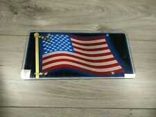 USA AMERICAN FLAG NOVELTY DECORATIVE LICENSE PLATE COVER SIGN