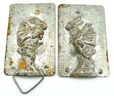 Rare Antique Eppelsheimer Metal Chocolate Mold Bunny Rabbit # 4807 No Reserve !