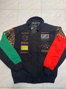 Nike Sportswear Urban Jungle Black Loose Woven Jacket CU4212-010 Sz XL Men