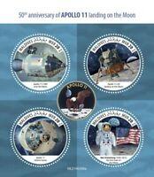 Maldives - 2019 Apollo 11 Moon Landing - 4 Stamp Sheet - MLD190309a