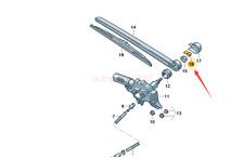Genuine New Rear Windshield Washer Nozzle For Audi A3A4A6Q7 8E9955985