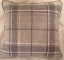 A 18 Inch Cushion cover in Laura Ashley Highland Steel Wool Fabric