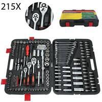 "215pcs Professional Ratchet Spanner Socket Set 1/2"" 1/4"" 3/8"" Tool Kit Toolbox"