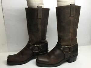 VTG WOMENS FRYE HARNESS MOTORCYCLE BROWN BOOTS SIZE 6.5 M