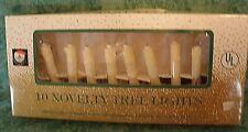 VINTAGE SANTA'S WORLD KURT S. ADLER LIGHT SET~CLIP ON CANDLES~10 CANDLES~#UL73