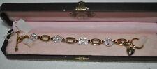 Juicy Couture Heart Charm Logo Rhinestone Bracelet yjru1515 NEW
