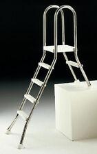 Leiter, teileingelassen, Edelstahl V2A 4+1 Tiefe 1,2 m
