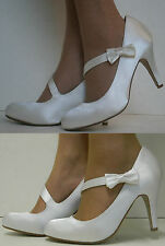 High Heel (3-4.5 in.) Court Satin Bridal Shoes