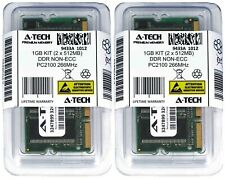 A-Tech 1GB 2 x 512MB PC2100 Laptop SODIMM DDR 266 MHz 200-Pin DDR1 Memory RAM 1G