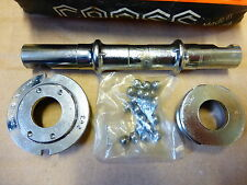 TDC BOTTOM BRACKET WITH C 165 DOUBLE AXLE ENGLISH CUPS AND LOCK RING NOS
