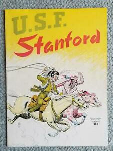 1950. USF vs STANFORD Program. Football/ GREAT USF TEAM with 3 futue NFL stars +