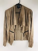 Insight New York Women's Faux Leather Drapey Open Moto Jacket Size 6