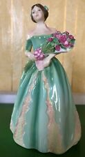 ROYAL DOULTON LADY HAPPY BIRTHDAY MODEL No. HN 3660 STYLE 2 GREEN DRESS PERFECT