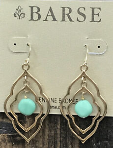 Barse On The Curve Earrings- Bronze & Varacite- New With Tags