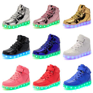 Unisex LED Shoes High Top Light Up Sneakers for Girls Boys  USB Charging