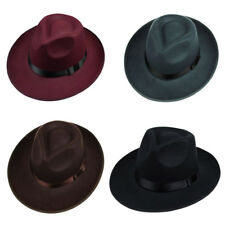 Man Women Beach Cow Boy Hat Cap Sun Jazz Panama Gangster Fedora Trilby Sunmmer