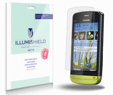 iLLumiShield Matte Screen Protector w Anti-Glare/Print 3x for Nokia C5