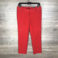 "The Limited Women's Size 4 The Pencil Pant Ankle Red Low Waist 27"" Inseam NEW"