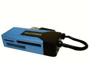 LinXcel USB 2.0 12-In-1 Mini Card Reader CR-BCA1-A-US Win 7/8, MAC
