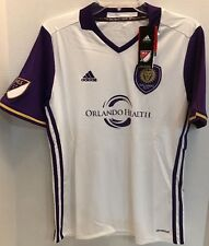 ADIDAS Youth XL MLS Orlando City SC Authentic White Purple Soccer Jersey NWT