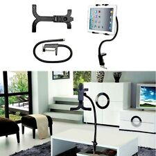 Gooseneck 360 Lazy Bed Desk Stand Holder Mount-iPad 2 3 4 Air Mini Tablet Black