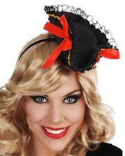 Mini Black Pirate Hat Headband One Size
