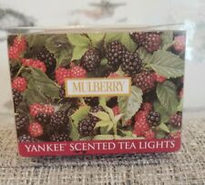 NIB Yankee Mulberry Candle Tea Lights Box 12 Candles RARE