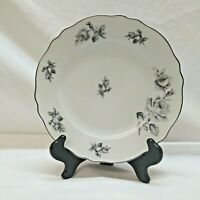 "Carina China/K&A Krautheim Grixella Grey Rose 8"" Salad Plate, Bavaria, Germany"