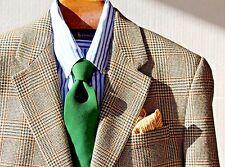 Ralph Lauren 39S Beige, Brown, & Black Houndstooth Check Lambswool Sport Coat