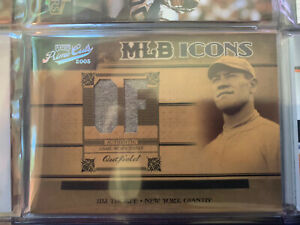 2005 Playoff Prime Cuts MLB Icons Jim Thorpe Jersey Patch /50