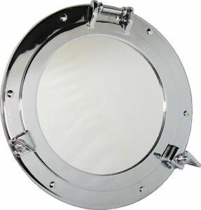 Porthole Mirror, Porthole with Mirror, Brass Ø 7 7/8in