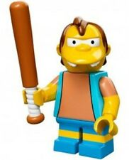 The Simpsons Lego collectible minifig Nelson Muntz with baseball bat