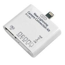 Lightning USB SD/TF Card Reader Adapter Camera Connection Kit f/ Pad 4/Mini/Air