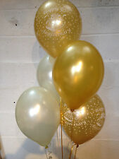 15 Golden Wedding (50th Anniversary) Pearlised Balloons (Helium Quality)