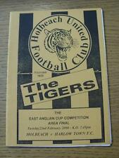 22/02/2000 East Anglian Cup Area Final: Holbeach United v Harlow Town  (No appar