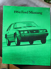 1984 Ford Mustang Full Brochure - 25 pages