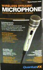 Wireless Dynamic Microphone Kit, Professional Microphone -72dB 100-1000Hz 600ohm