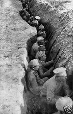 """Russian Troops Awaiting a German Attack 1917 World War 1, 6.5x4"""" Reprint Photo"""