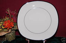 (6) Lenox SOLITAIRE Square Dinner Plates Ivory NEW
