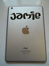 Apple Ipad Mini De Vinilo Sticker Personalizado de nombre de la fuente Laptop Tablet