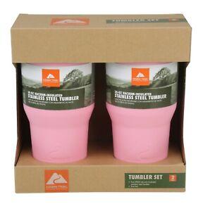 Ozark Trail 2-Pack 40oz Double-Wall Vacuum-Sealed Tumbler Pink