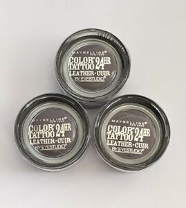 Maybelline Color Tattoo Cream Eyeshadow 90 Vintage Plum 24 Hour Lot of 3
