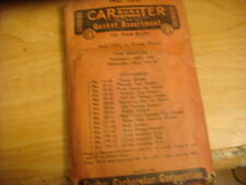 1938 STUDEBAKER CARTER 409S CARBURETOR GASKET KIT IN SEALED PACKAGE
