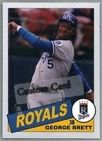 GEORGE BRETT KANSAS CITY ROYALS 1985 STYLE CUSTOM MADE BASEBALL CARD BLANK BACK