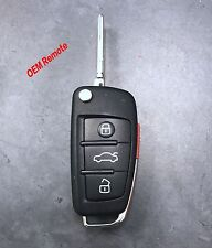 Used OEM Remote Flip Key Audi Switchblade Keyless Fob Transmitter FCCID:IYZ3314