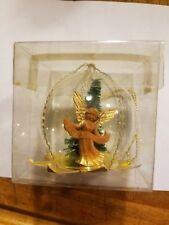 Vintage West German Hand Blown Glass Ornament With Angel Heinz Matthai