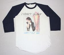 S * thin vtg 80s 1983 ROBERT PLANT raglan concert tour t shirt jersey * 80.78