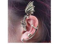 ALCHEMY Bronze DRAGON SNAKE EAR CUFF CLIP WRAP LURE EARRING GOTHIC PUNK ROCK UK